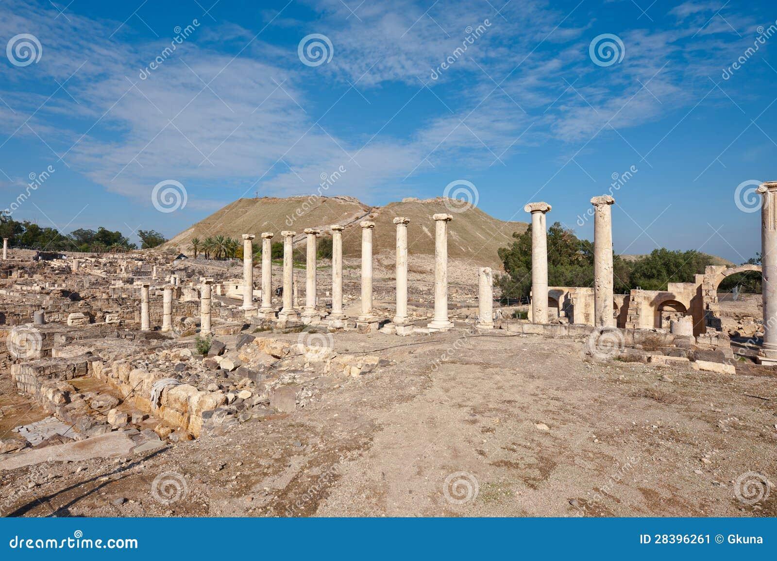 Ruines de Shean parié