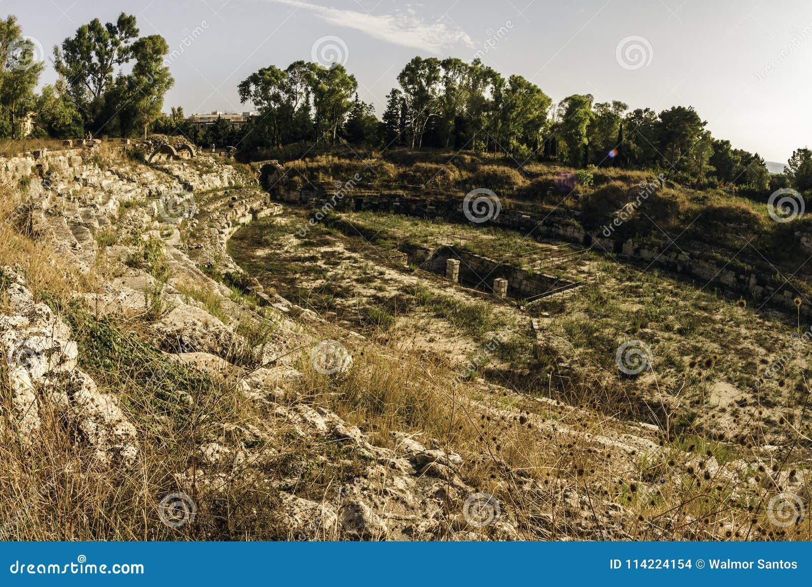 Ruines de Syracuse, Italie