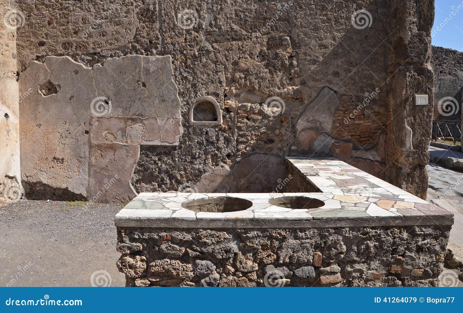 Ruines de ville romaine antique de Pompeii