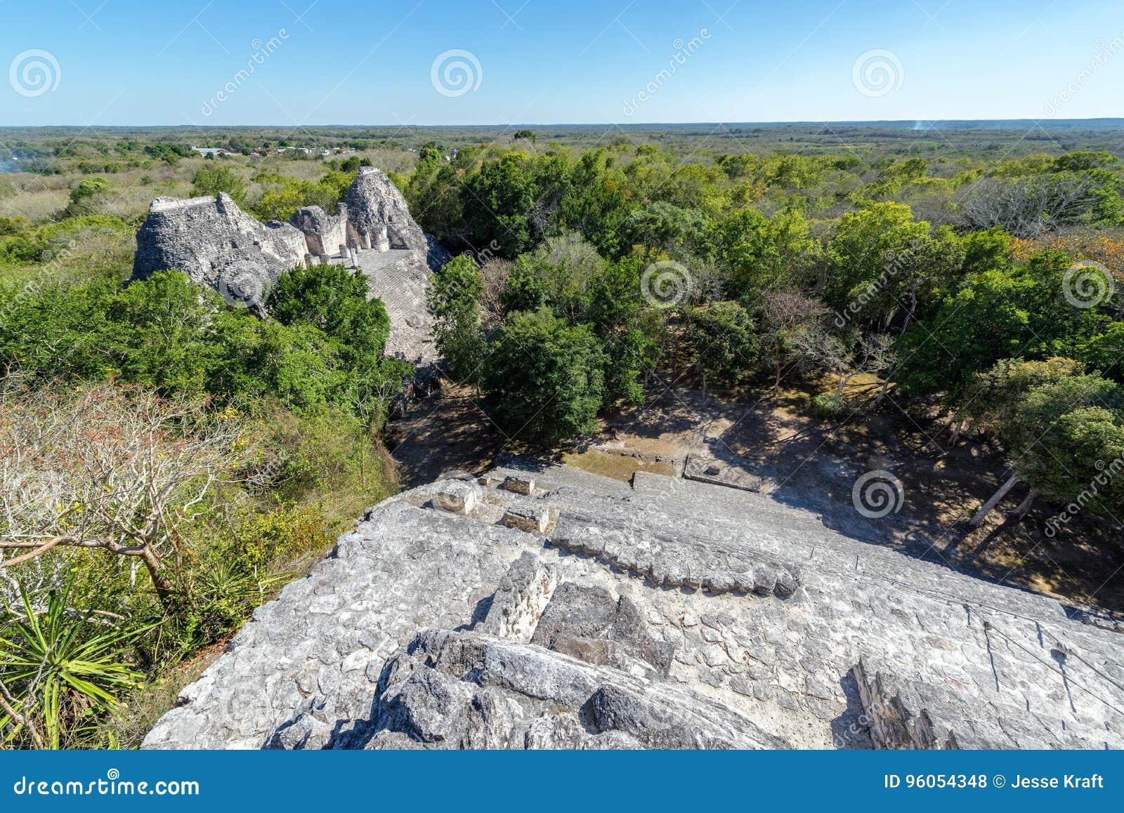 Ruines et jungle de Becan