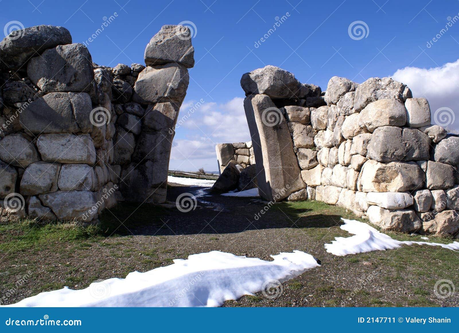 Ruines et porte