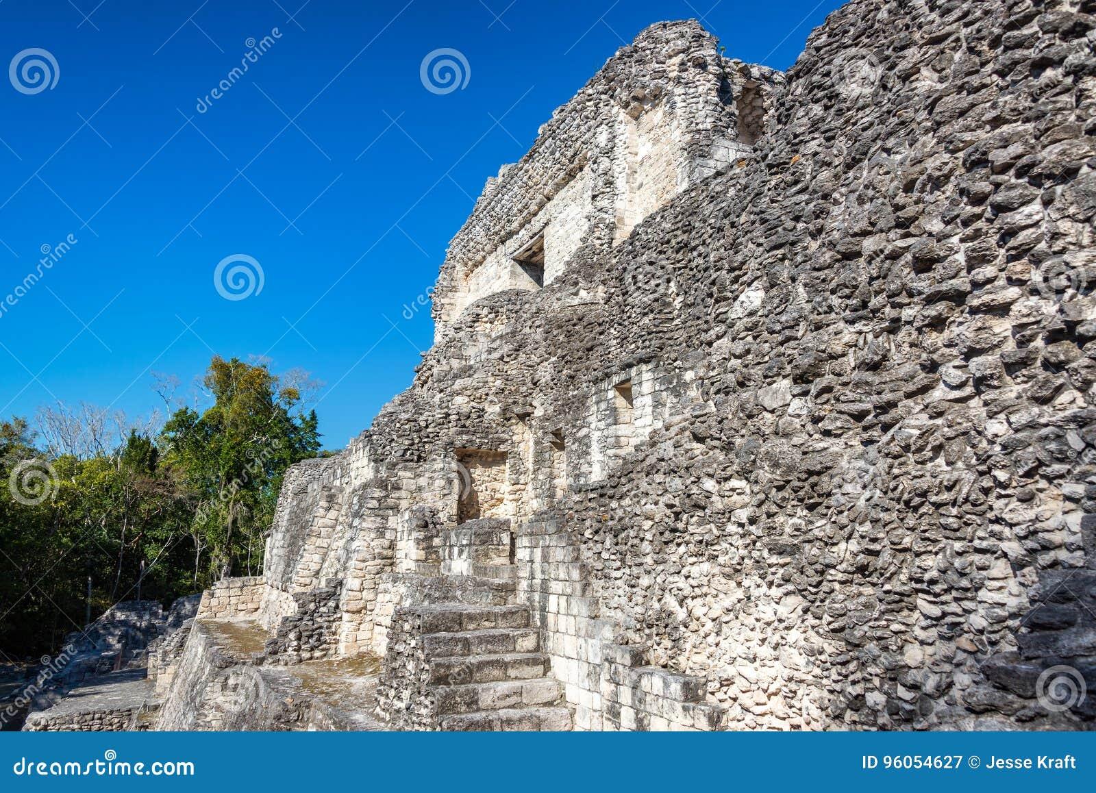 Ruines maya dans Becan, Mexique