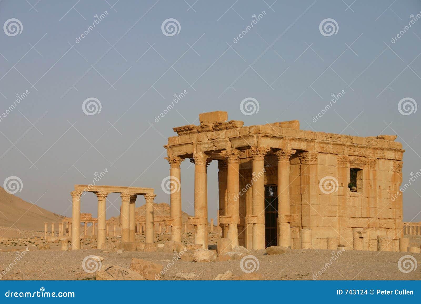 Ruines romaines au Palmyra