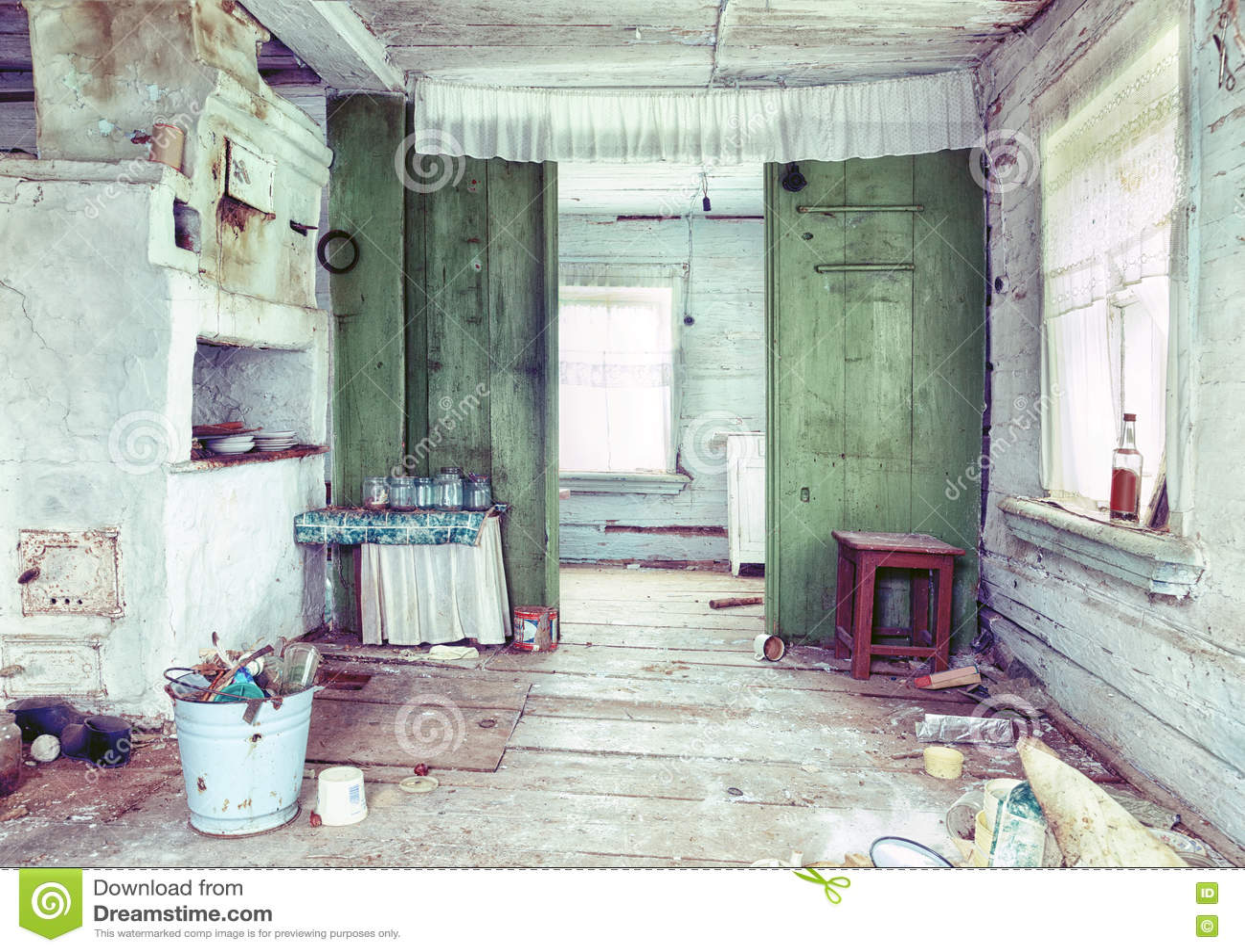 Ruinous country house interior stock photo image 41825785 for Classic country house interiors