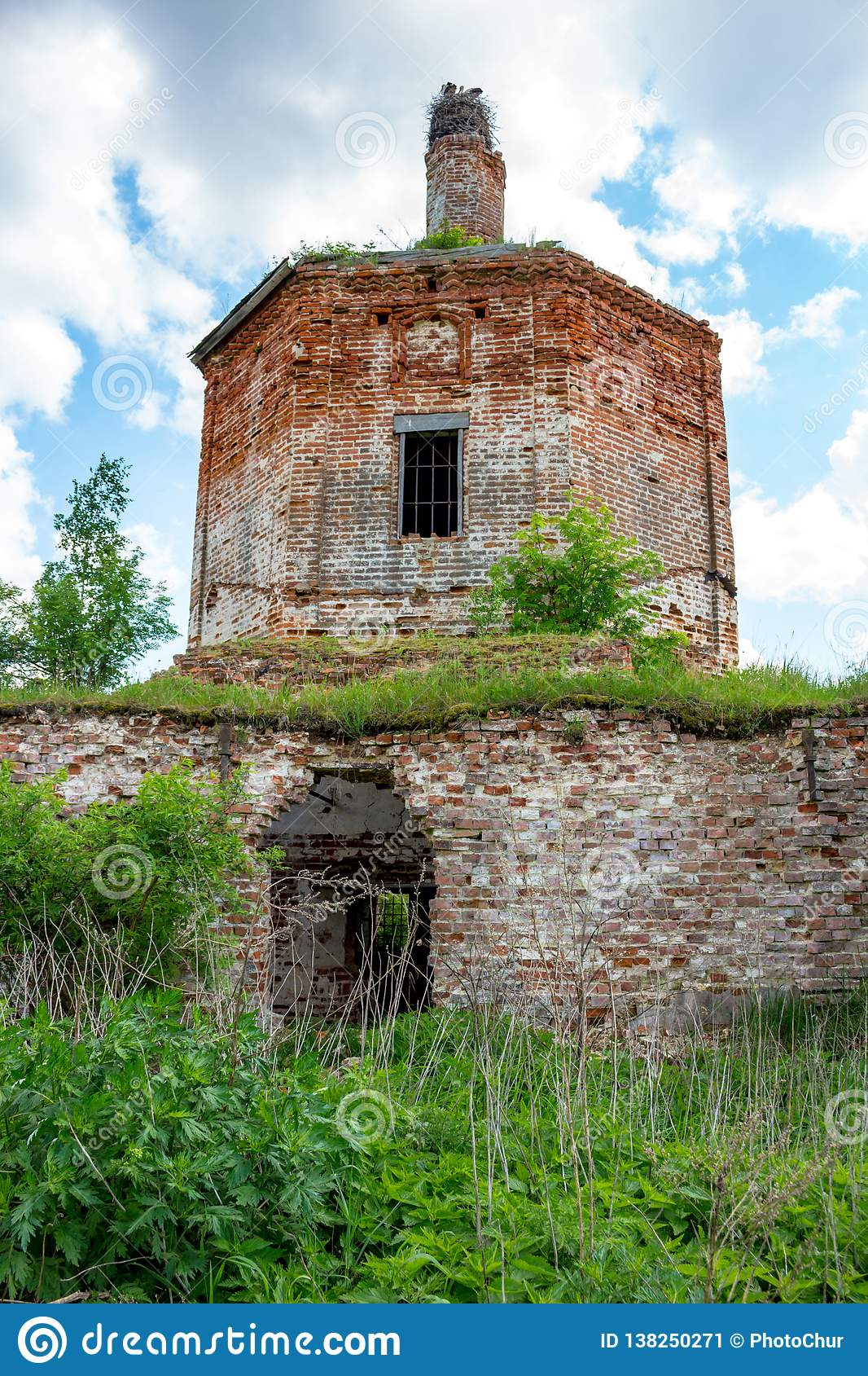 Ruins of the abandoned church of St. John the Evangelist of the 18th century
