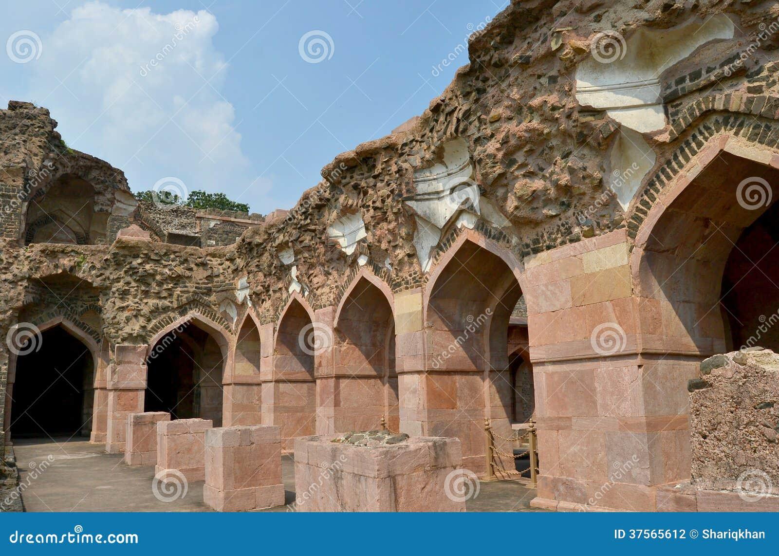 Ruins of Ancient Architecture Ship Palace Mandav