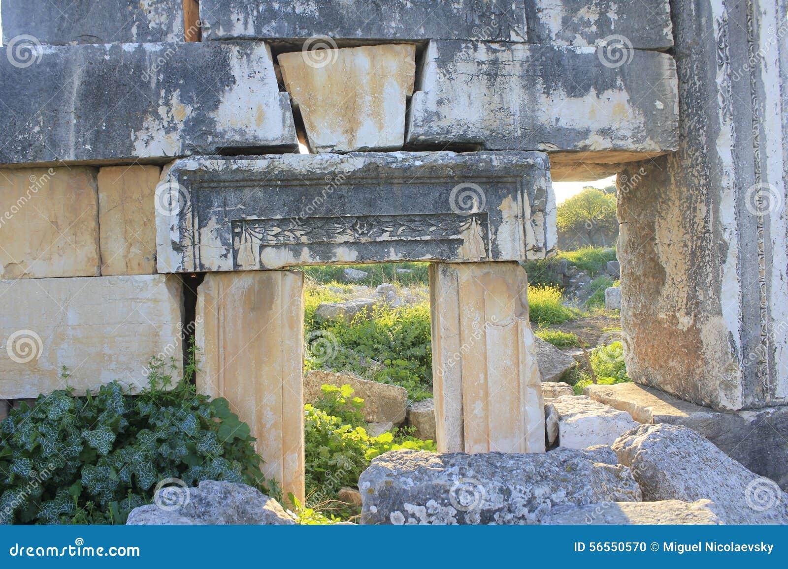 Ruins of Ancient City of Biblical Kedesh in Israel