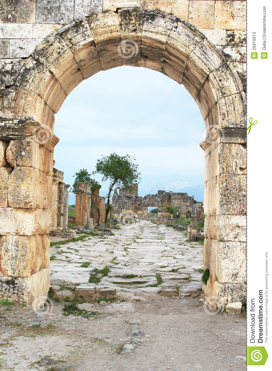 Ruins Of The Ancient City Of Hierapolis Stock Photos - Image: 26810913