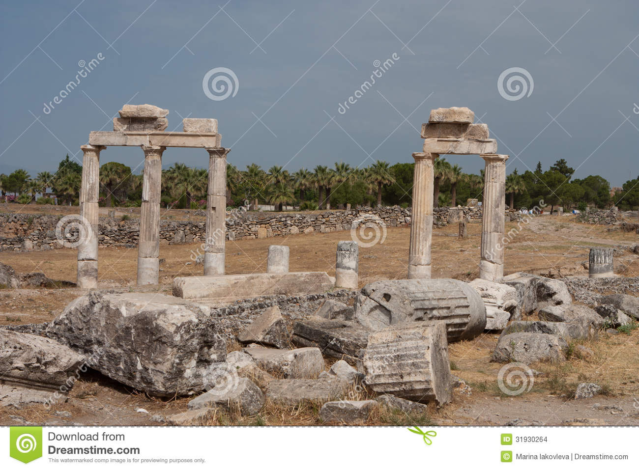 Ruins Of The Ancient City Of Hierapolis Stock Images - Image: 31930264