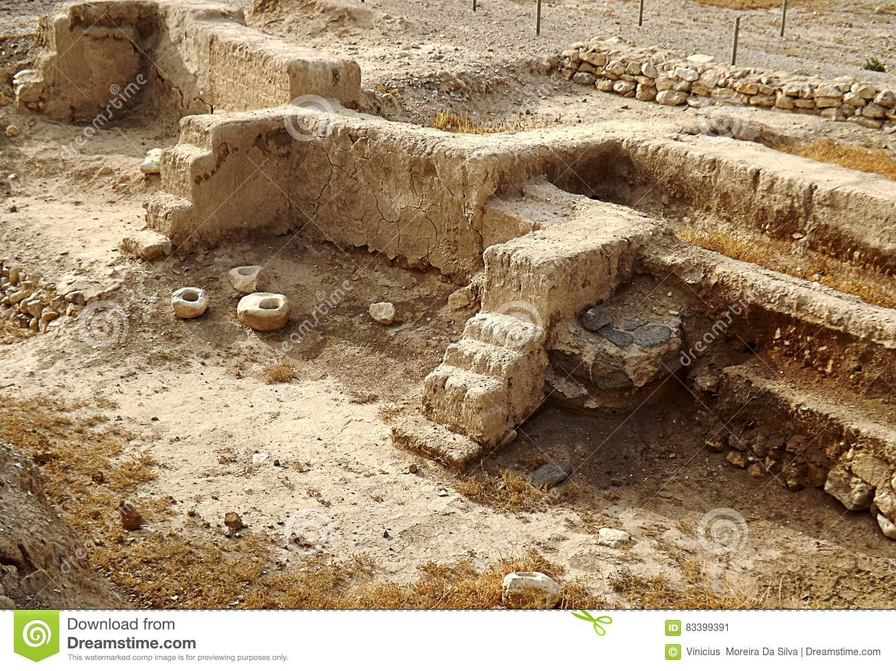 Ruins of ancient city Jericho in Israel