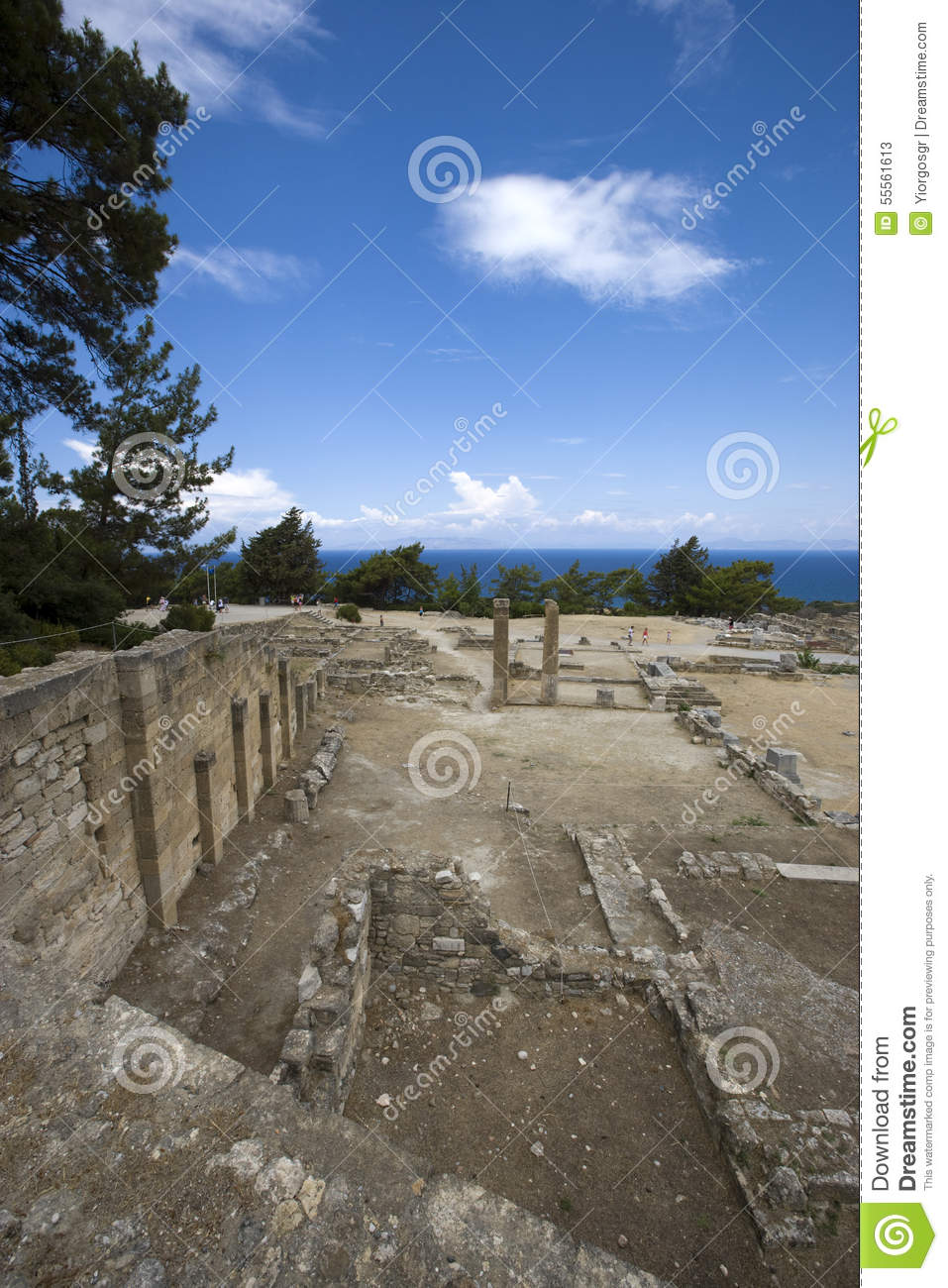 The Ruins Of The Ancient City Kameiros (Kamiros). Rhodes ...
