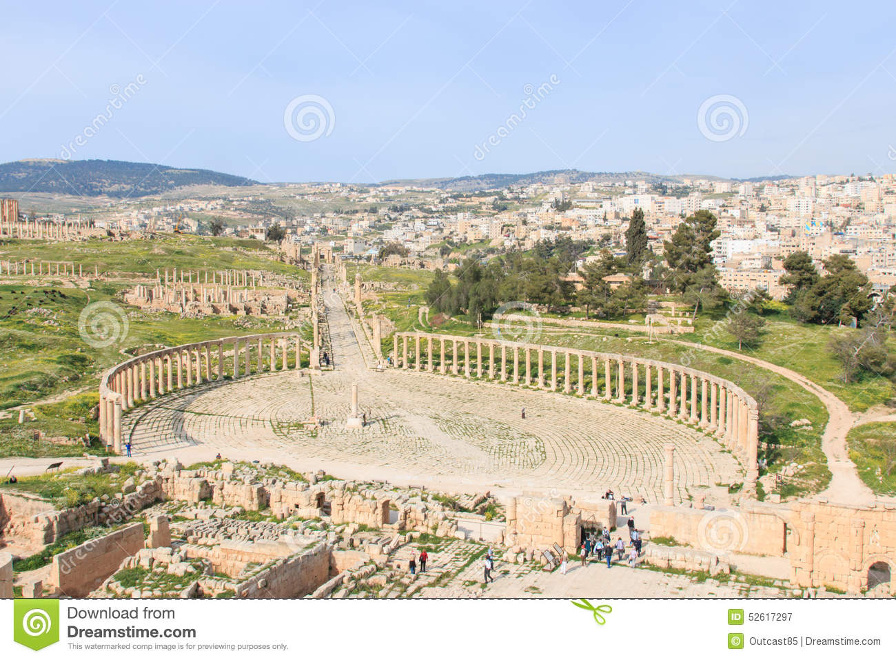 Ruins Of The Ancient Jerash The Greco Roman City Of