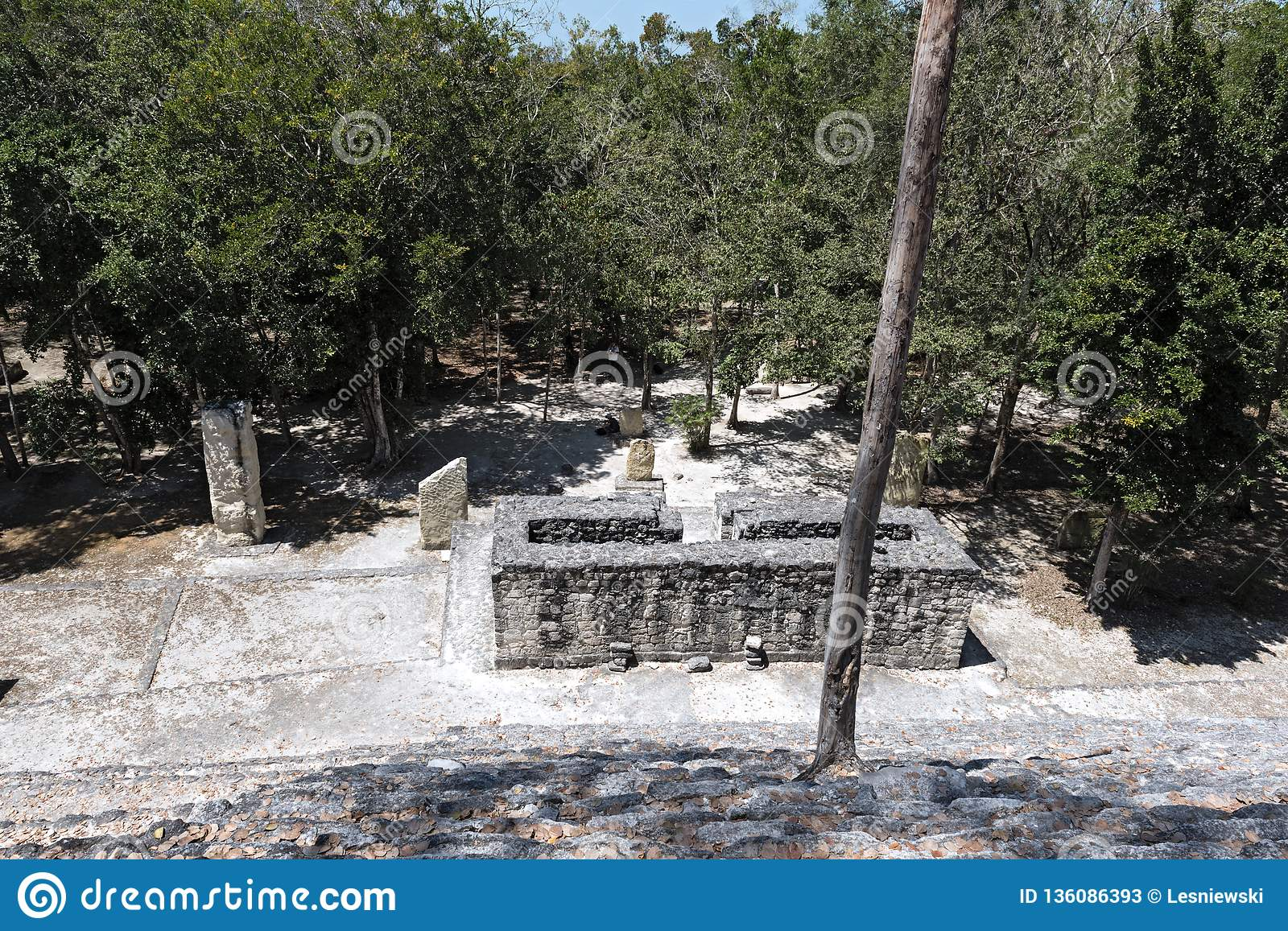 Monument of ancient architecture — Stock Photo © Uralsky ...   Campeche City Monuments