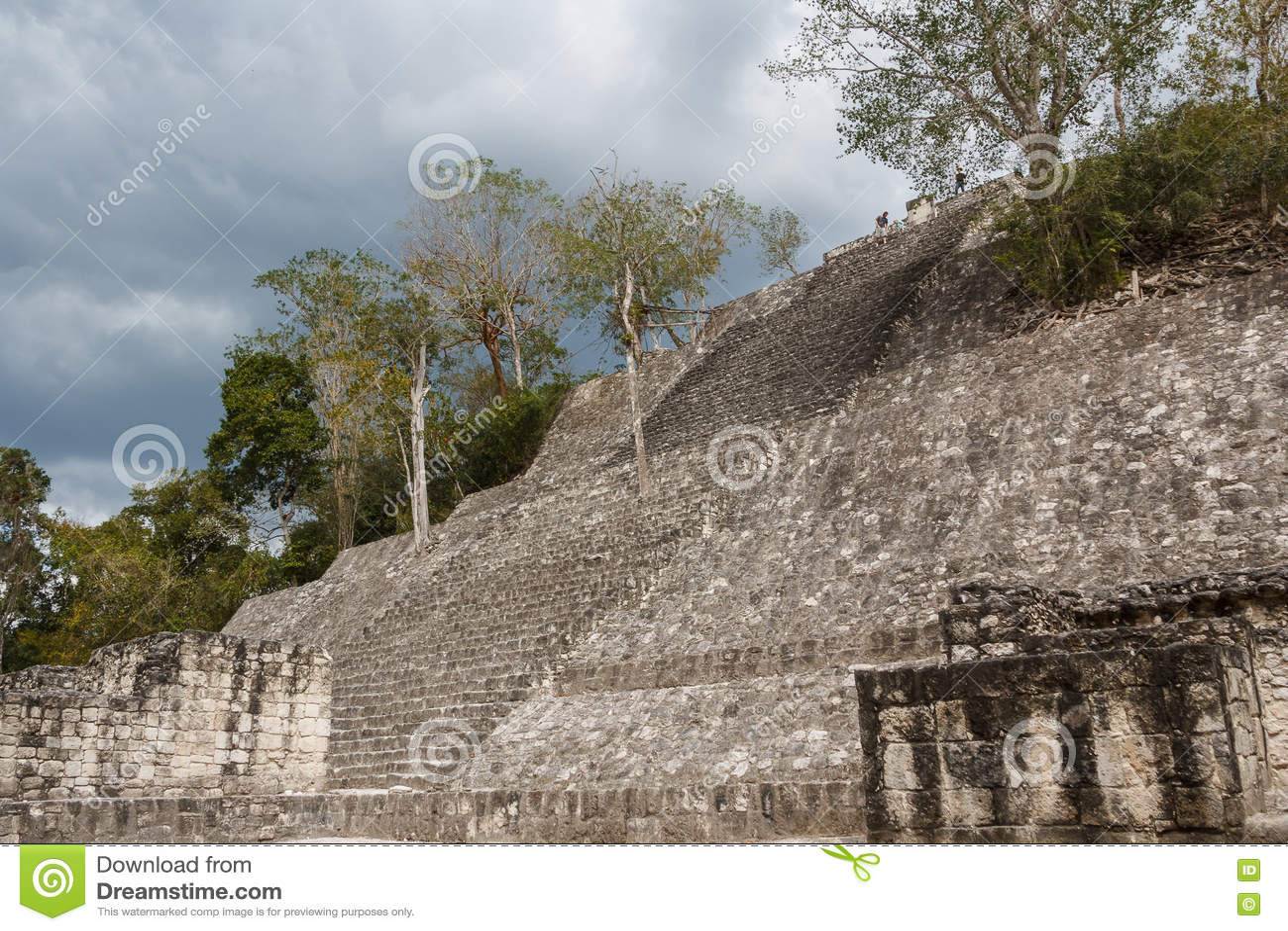 Ruins of the ancient Mayan city of Calakmul