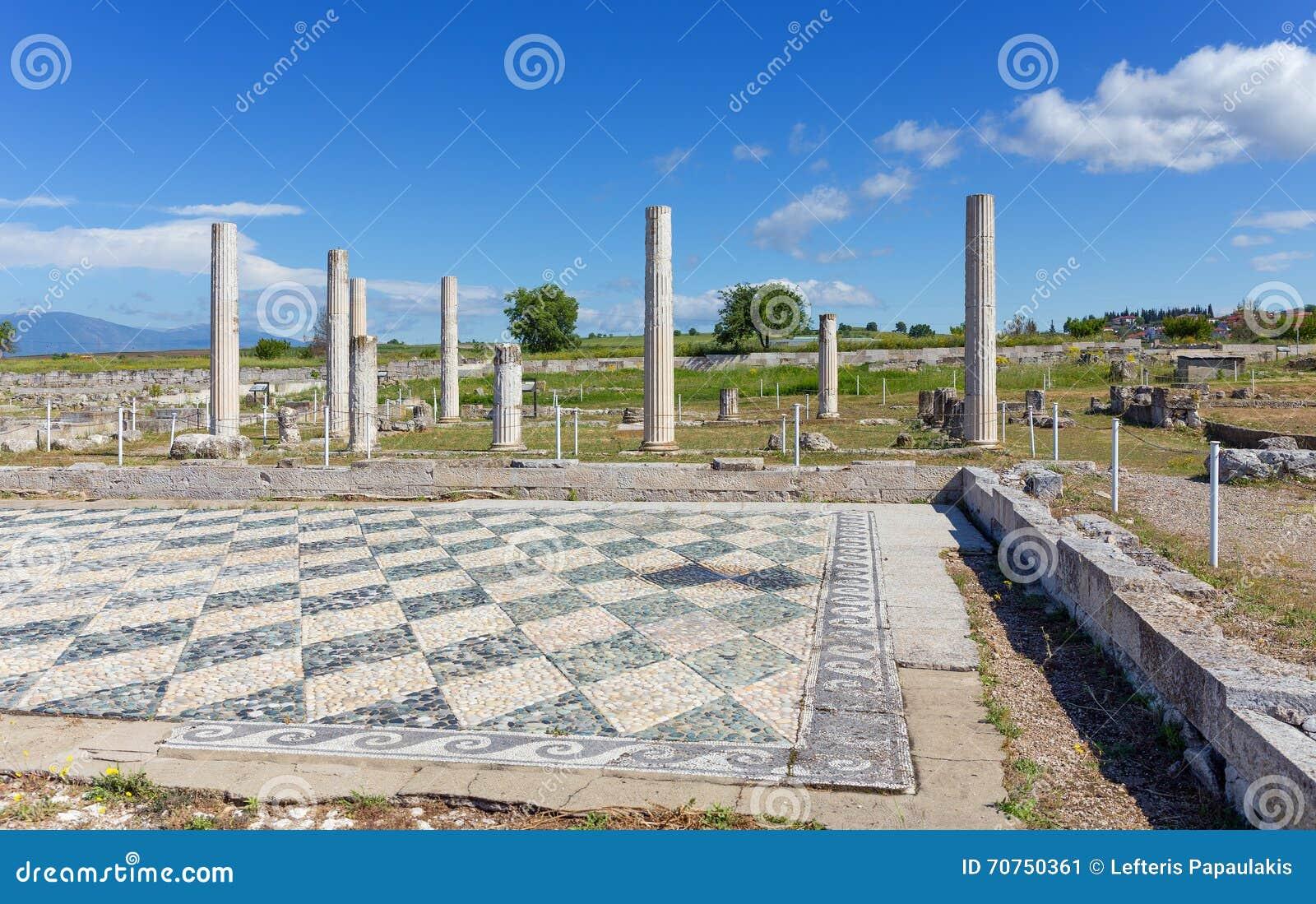 Ruins of ancient Pella, Macedonia, Greece