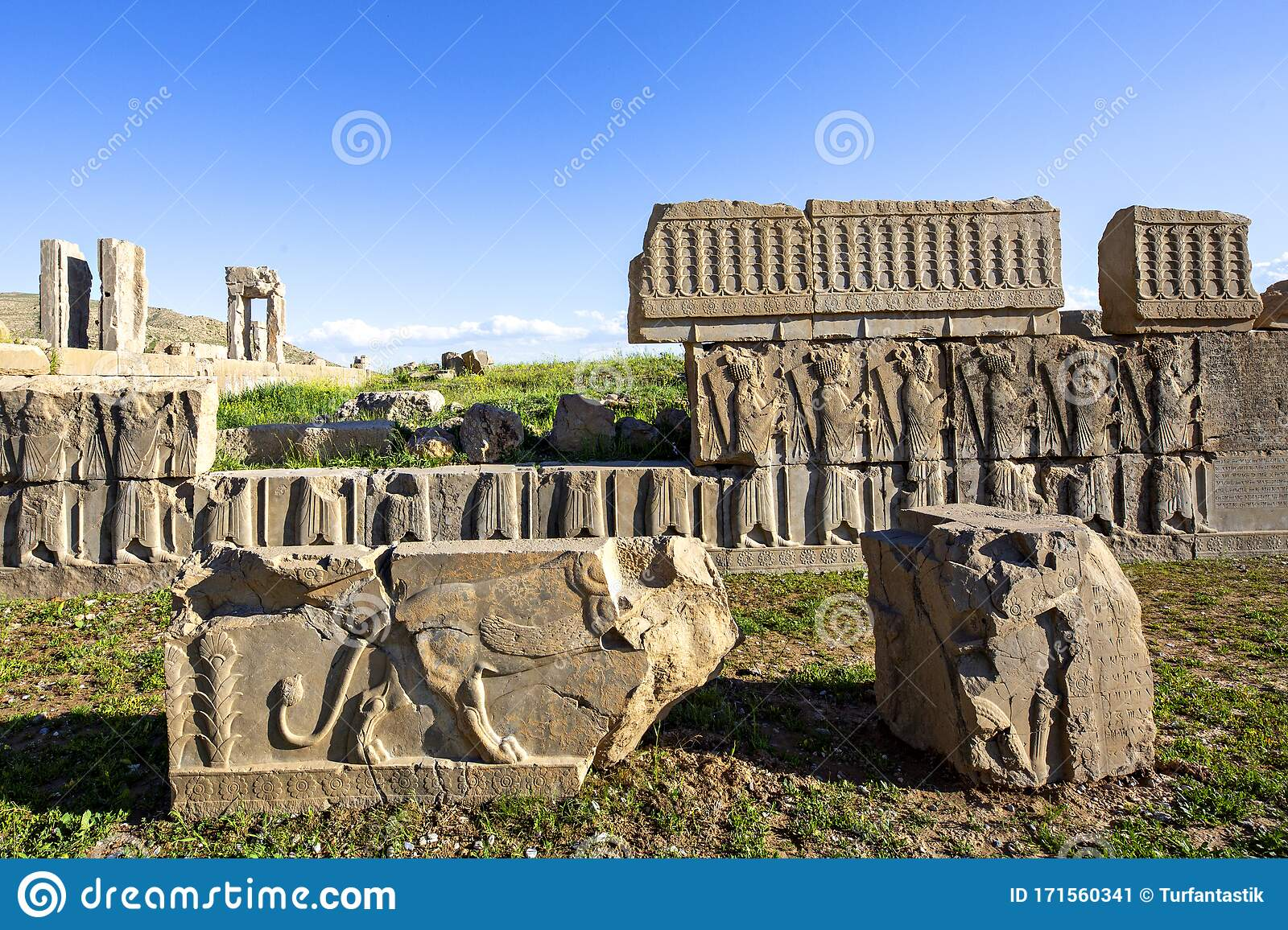 Ancient City Of Persepolis Shiraz Iran Stock Image Image Of Iran Historical 171560341