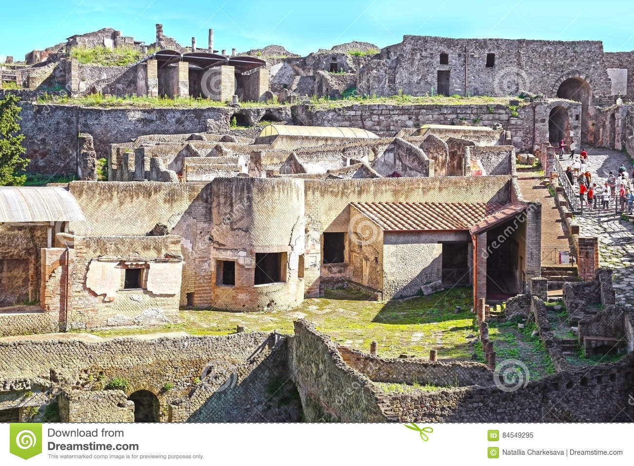 Ruins Of Ancient Pompeii Stock Image Image Of Material