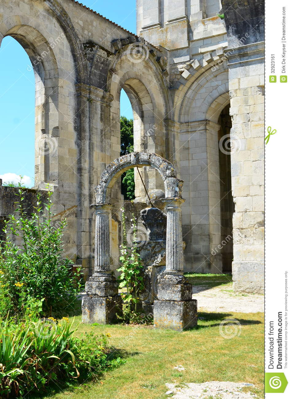 ruins arround royal abbey in saint jean d 39 angely france stock image image 32923161. Black Bedroom Furniture Sets. Home Design Ideas