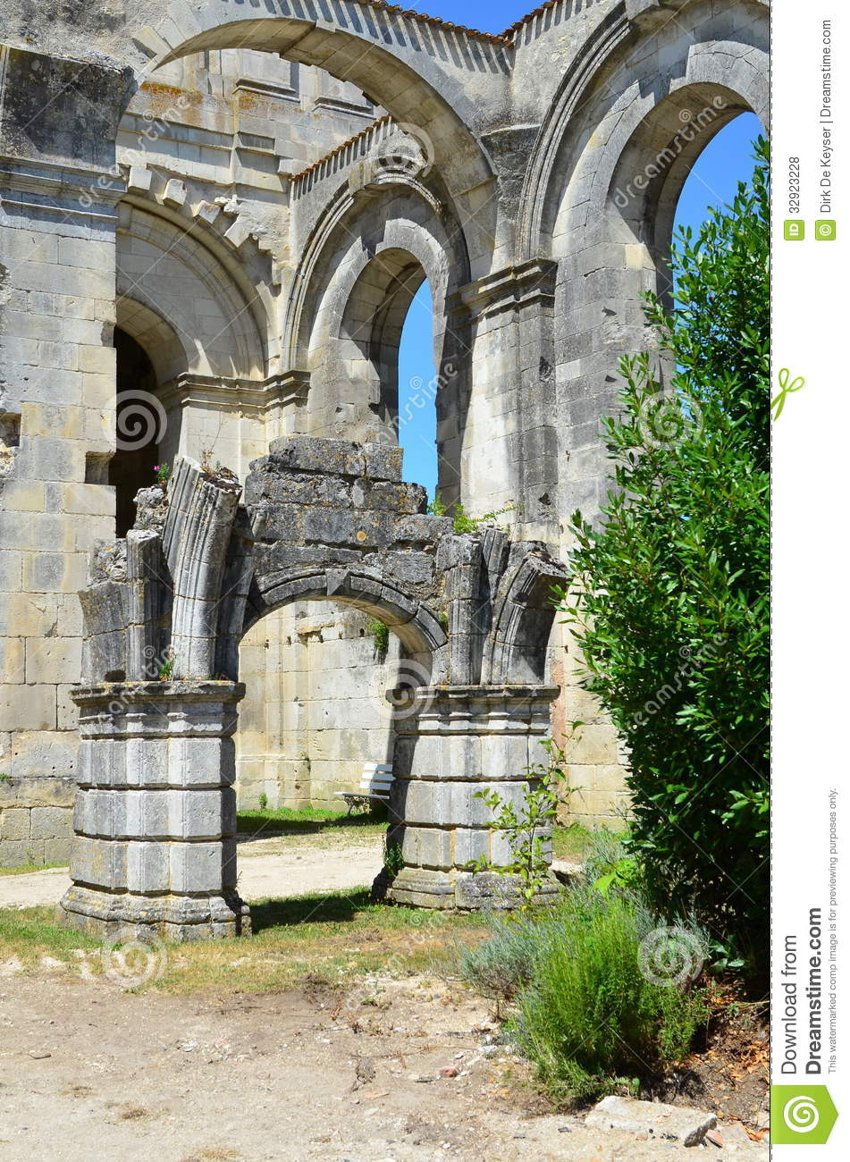 ruins arround royal abbey in saint jean d 39 angely france royalty free stock photos image 32923228. Black Bedroom Furniture Sets. Home Design Ideas