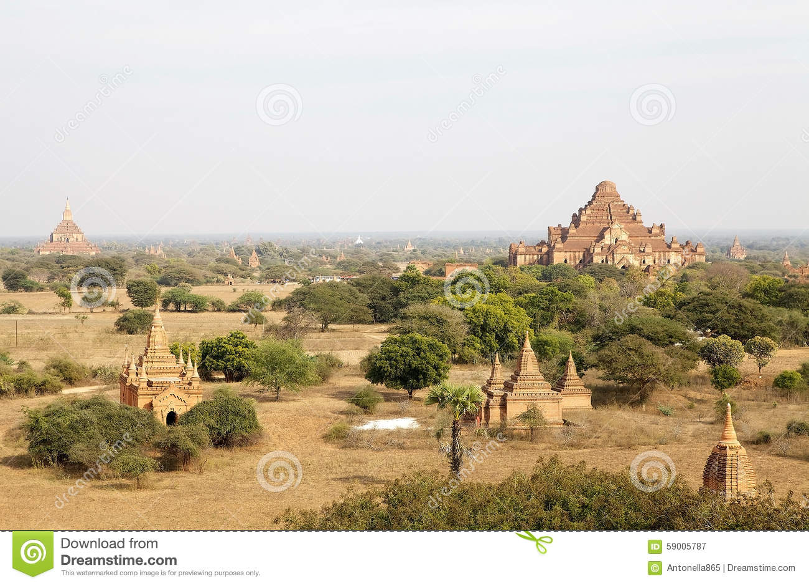 Ruins Of Bagan Myanmar Stock Photo Image 59005787