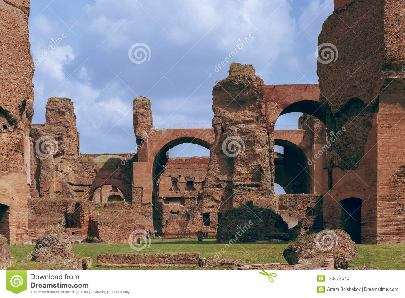 Ruins of the Baths of Caracalla Terme di Caracalla