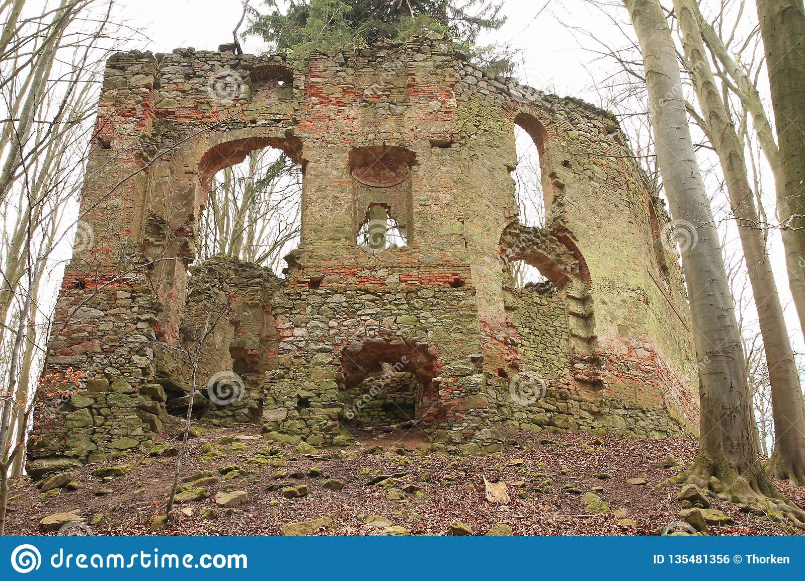 The ruins of the chapel of St. Mary Magdalene