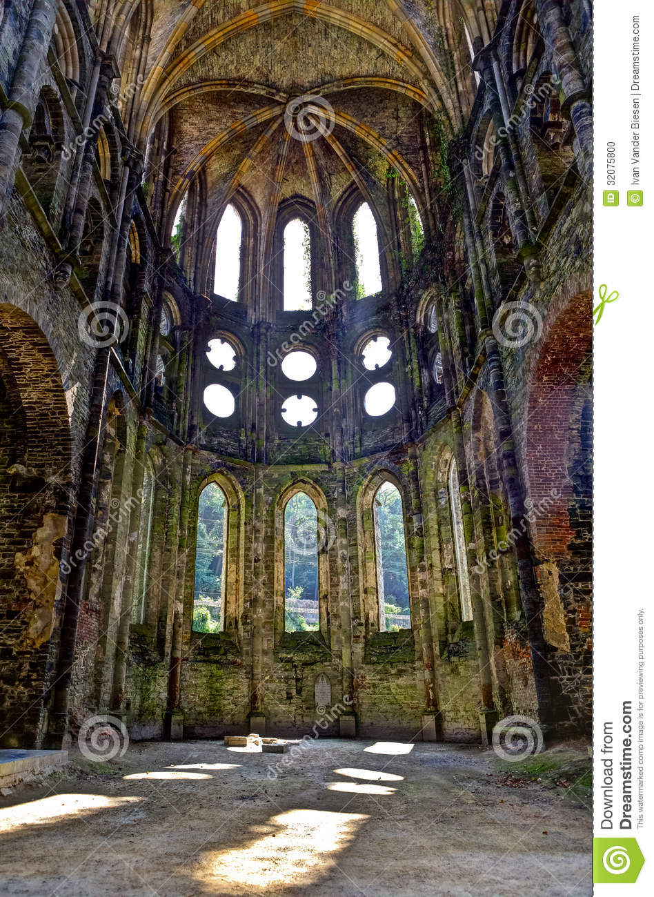 Ruins Of The Choir Of The Church In The Abbey Of Villers La Ville Belgium Stock Photo Image