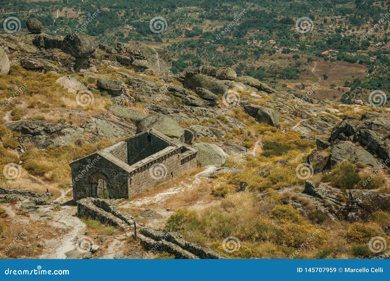 Ruins of the church of São Miguel do Castelo near Monsanto