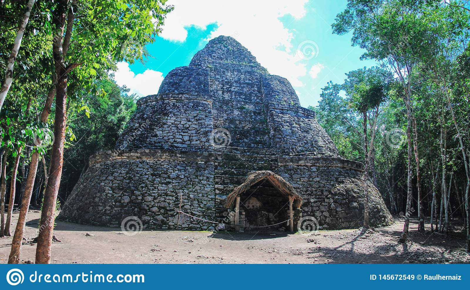 Ancient mayan city of Coba, in Mexico. Coba is an archaeological area and a famous landmark of Yucatan Peninsula