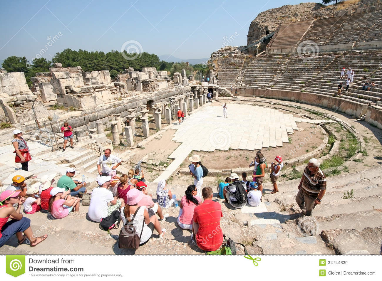 Ruins In Ephesus, Turkey Editorial Image - Image: 34744830 Greek Columns Vector