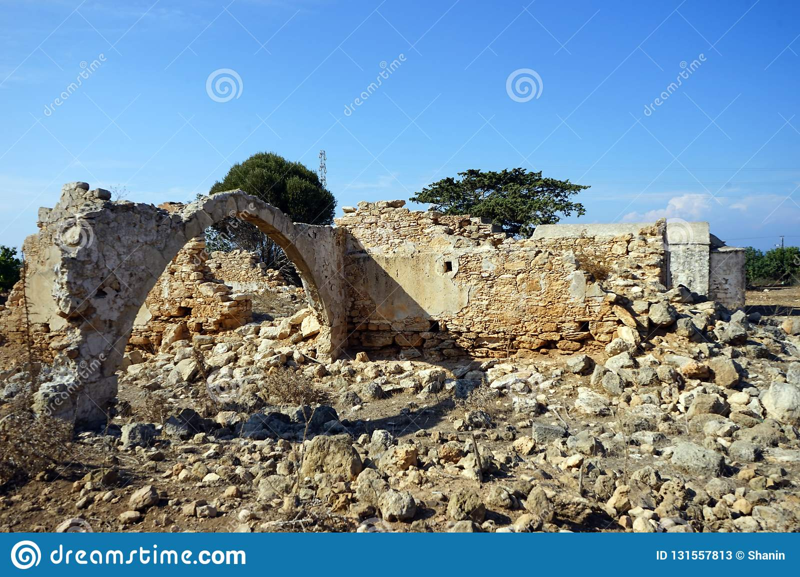 Ruins of greek church