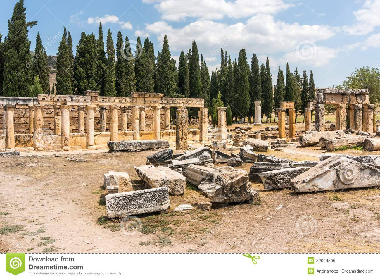 Ruins Of Hierapolis, Ancient City Stock Photo - Image: 52004505