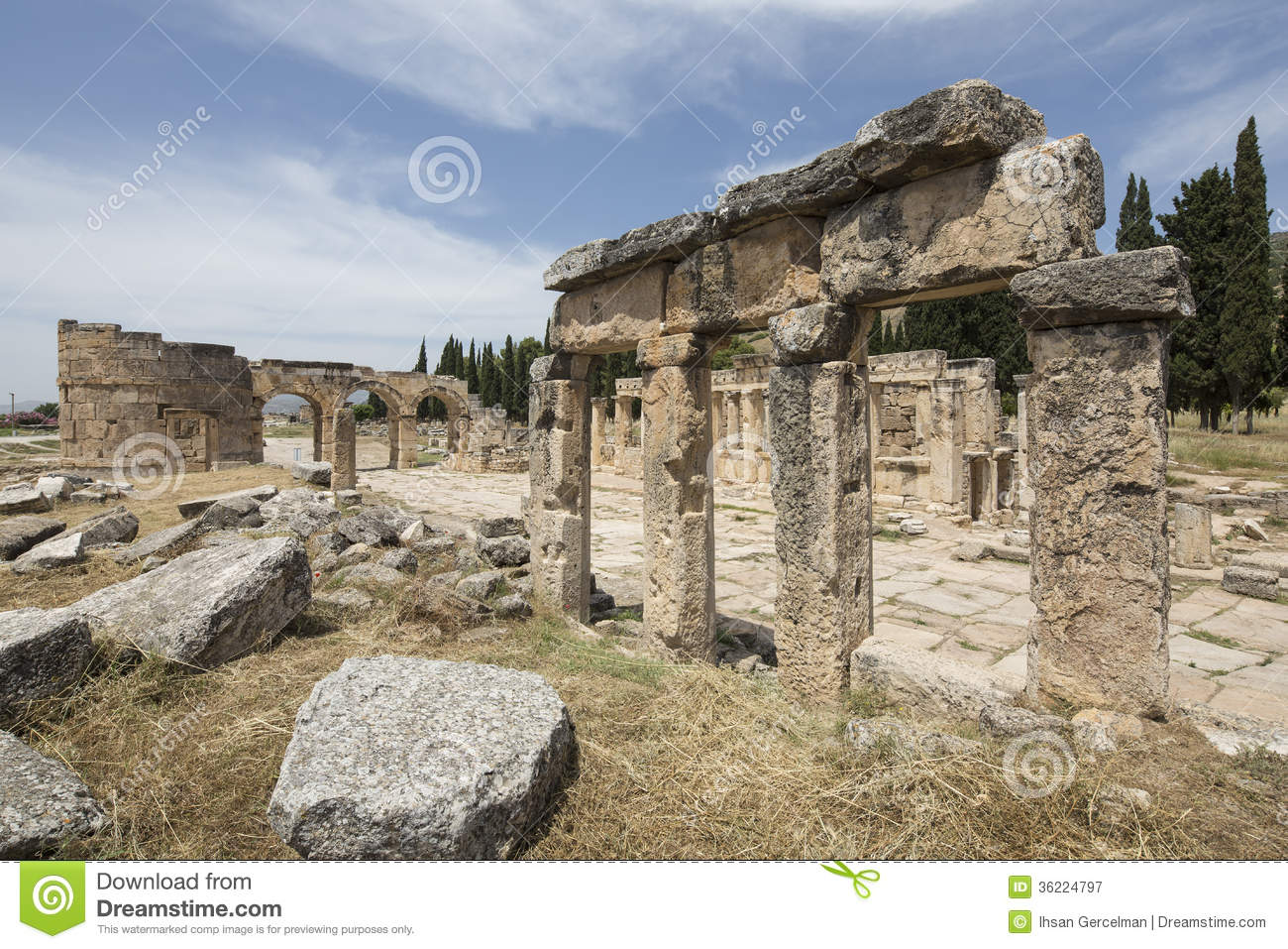 Ruins Of Hierapolis In Denizli, Turkey Royalty Free Stock Photography - Image...
