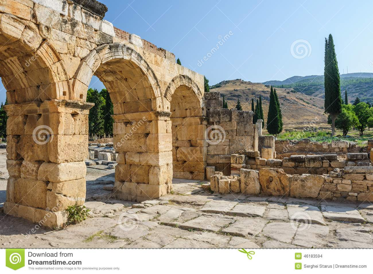Ruins Of Hierapolis, Now Pamukkale Stock Photo - Image: 46183594