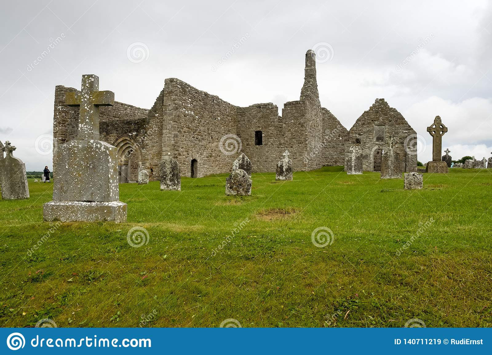 The ancient monastic city of Clonmacnoise in Ireland