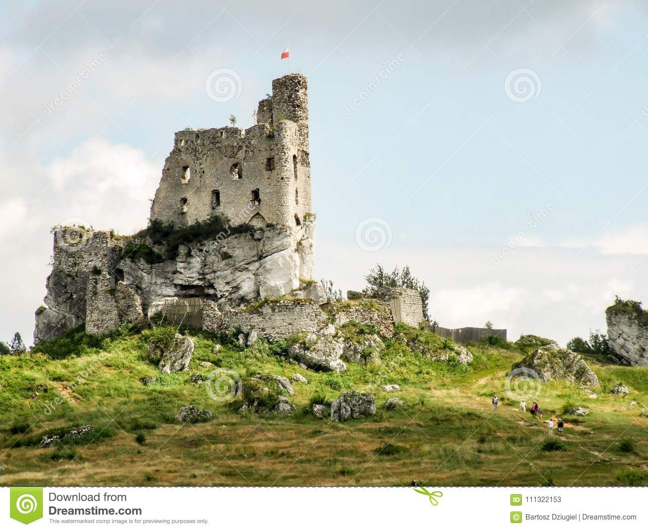 Download Ruins Of Mirow Castle On Trail Eagles Nests Stock Image