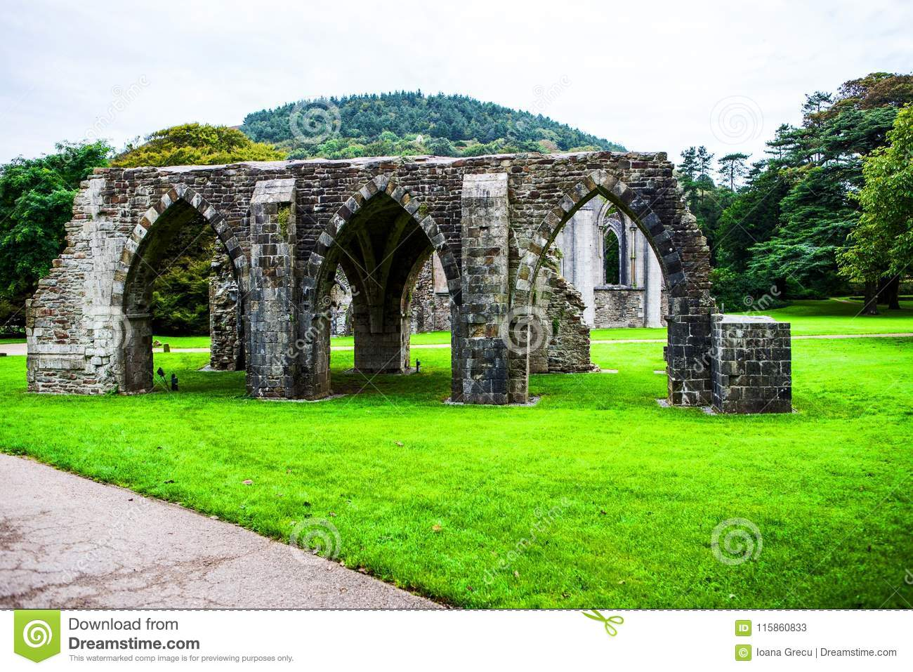 Ruins of the Norman Abbey at Margam Park