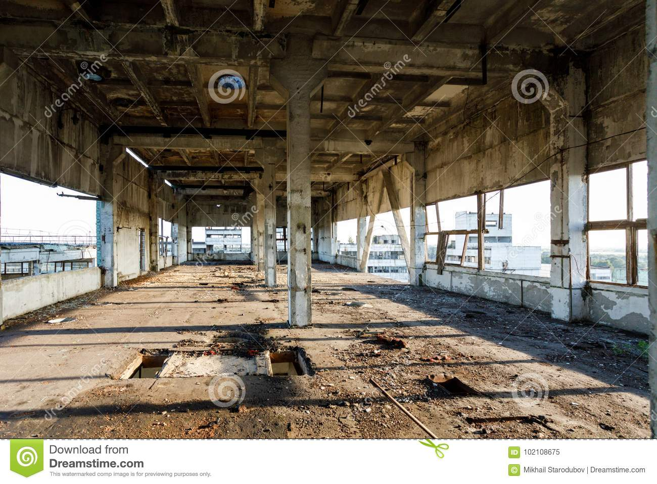 The Ruins Of An Old Abandoned Factory Stock Image - Image of ... for Abandoned Factory Russia  181obs