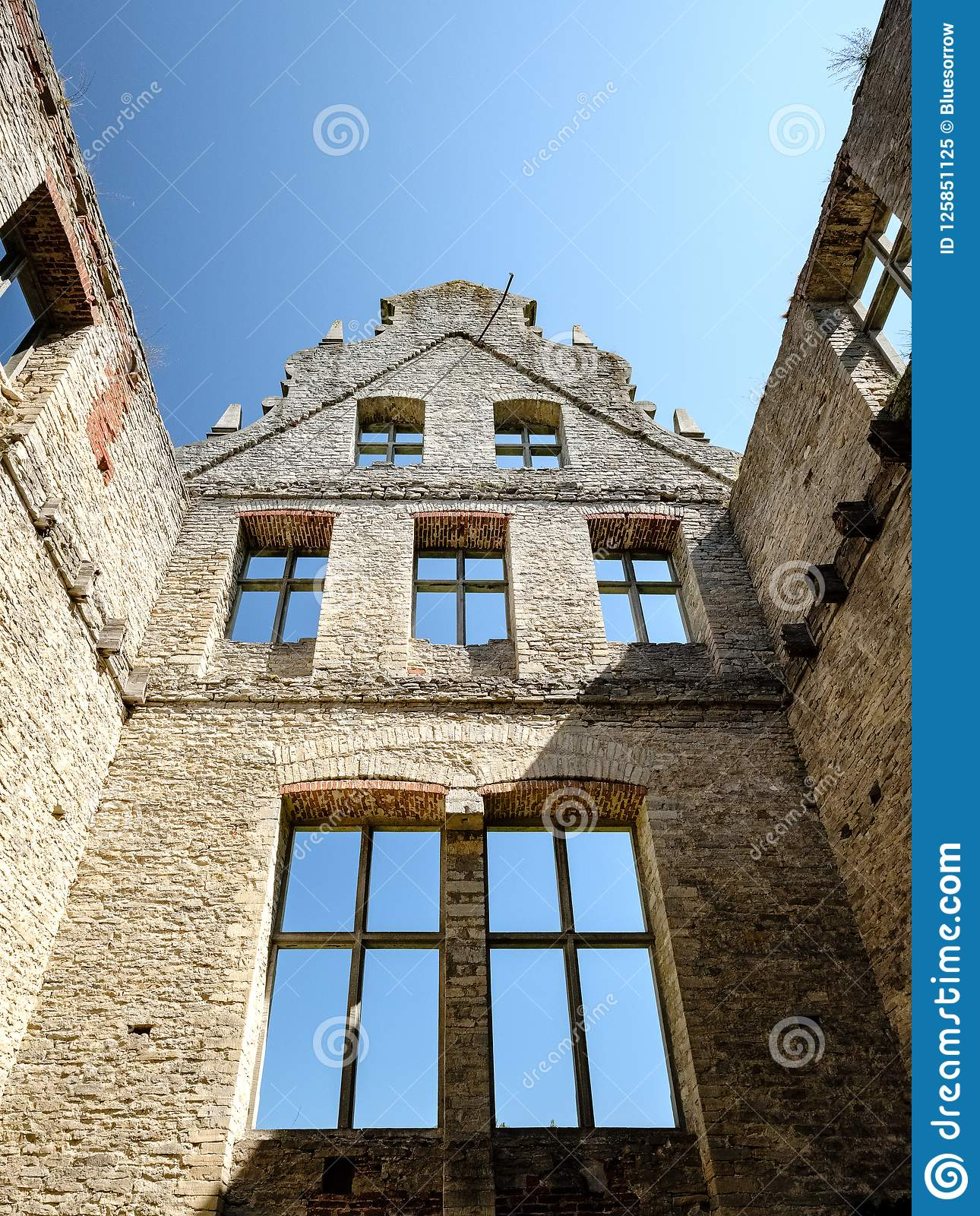 Ruins Of Old Abandoned Mansion Stock Image