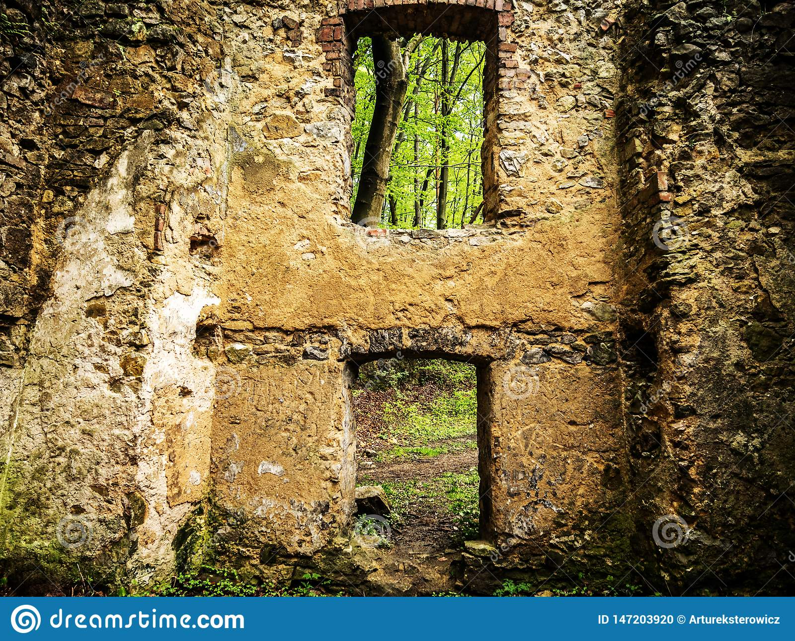 Ruins of an old house