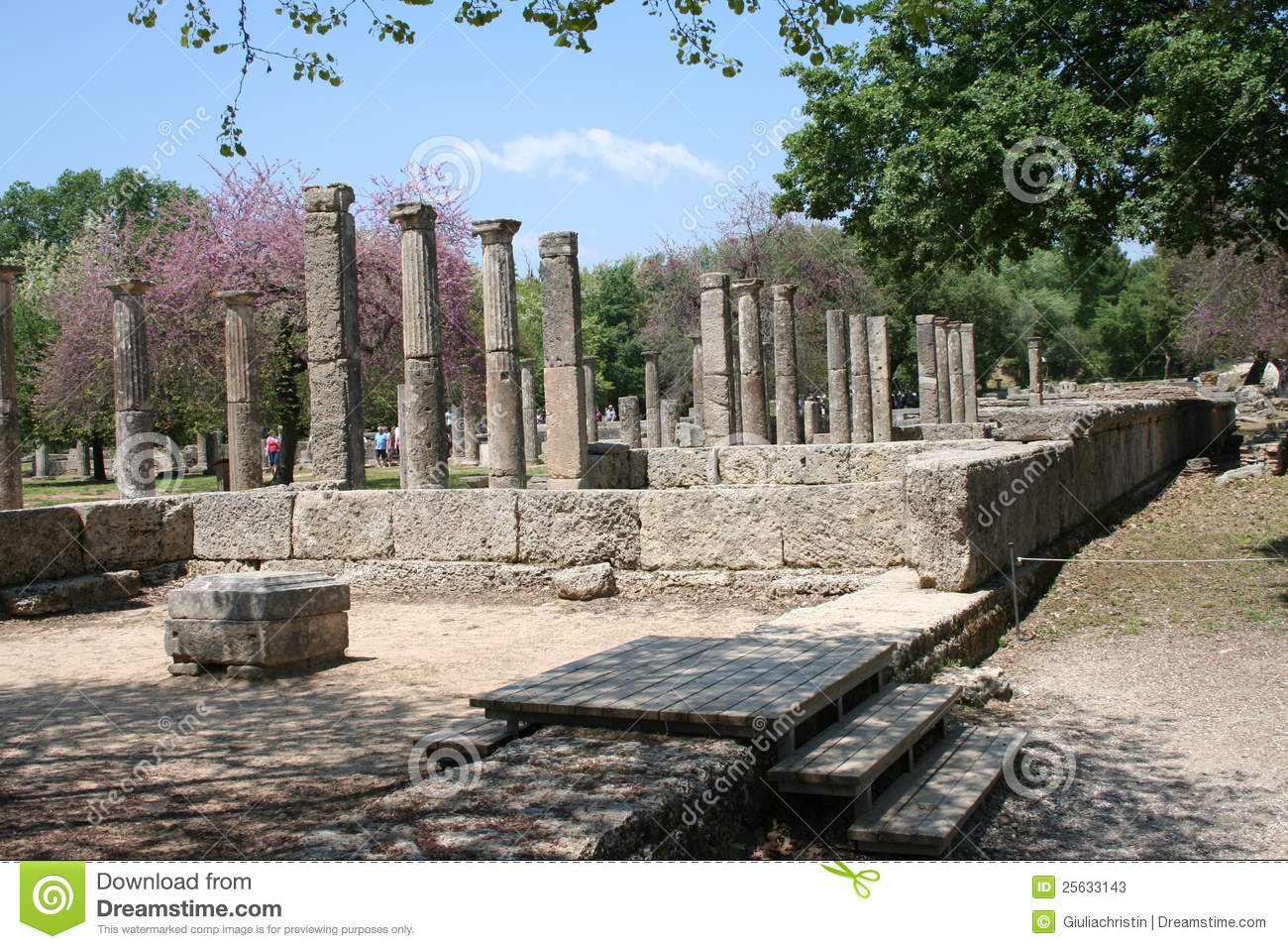 The Ruins Of Olympia Greece Stock Image Image 25633143