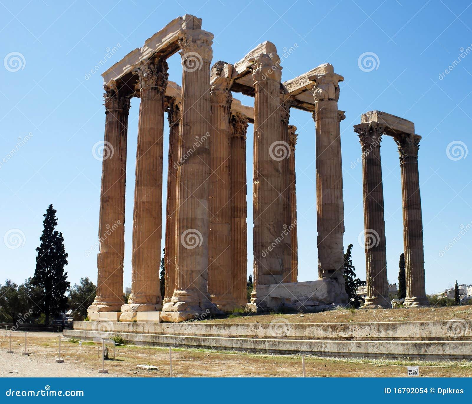 Ruins of Olympian Zeus temple, Athens