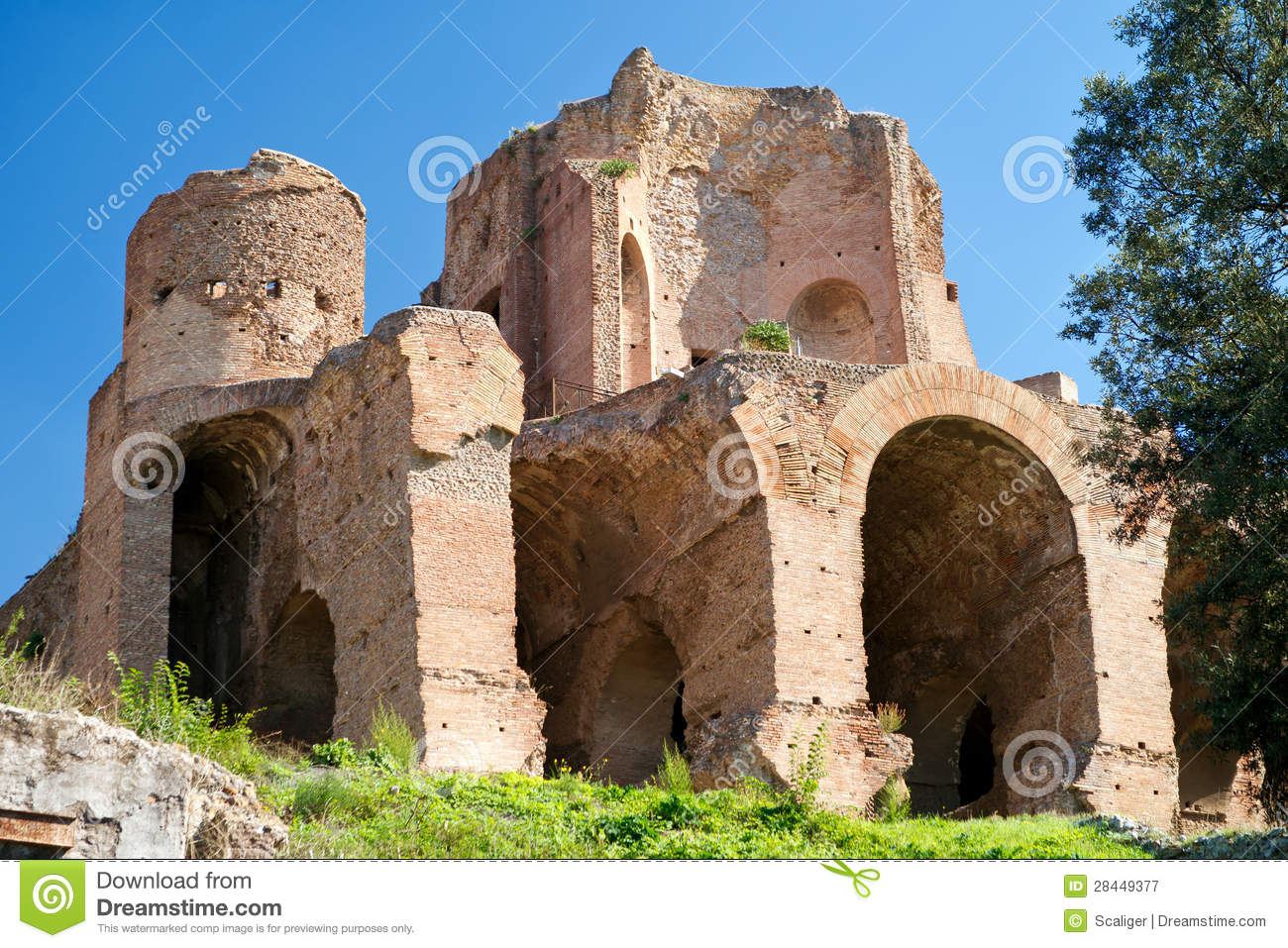 Ruins at the Palatine Hill in Rome