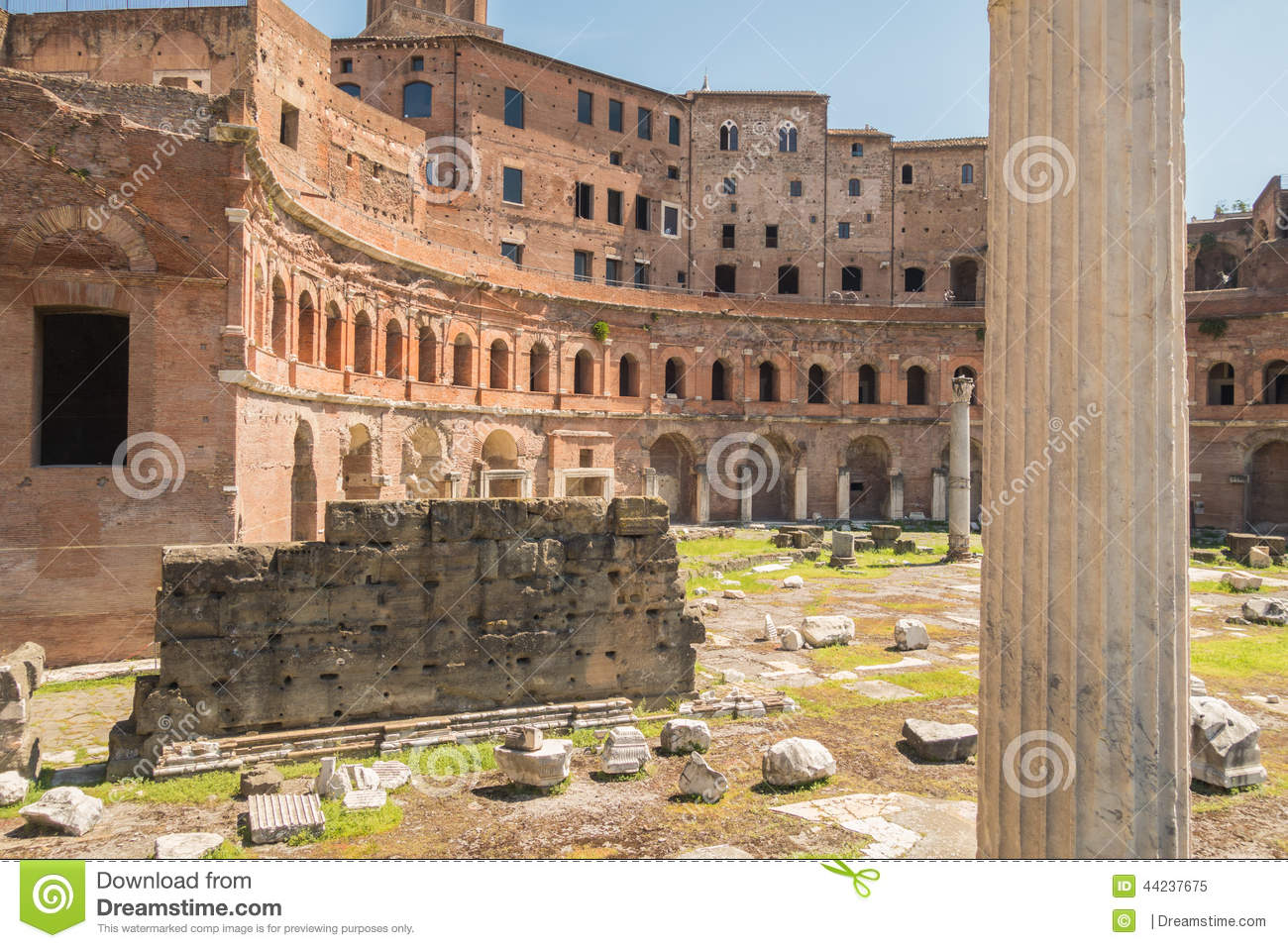 The Ruins Of The Roman Forum Stock Image - Image of architecture