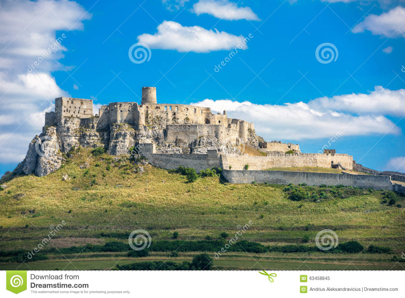 The ruins of Spis castle, Slovakia