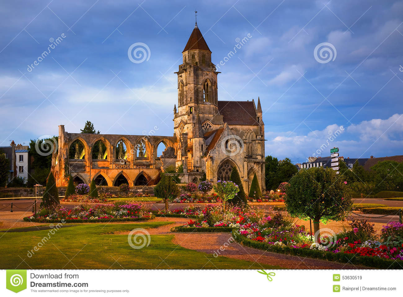 Ruins of st etienne le vieux in caen normandy france stock photo image 5 - Kartell saint etienne ...