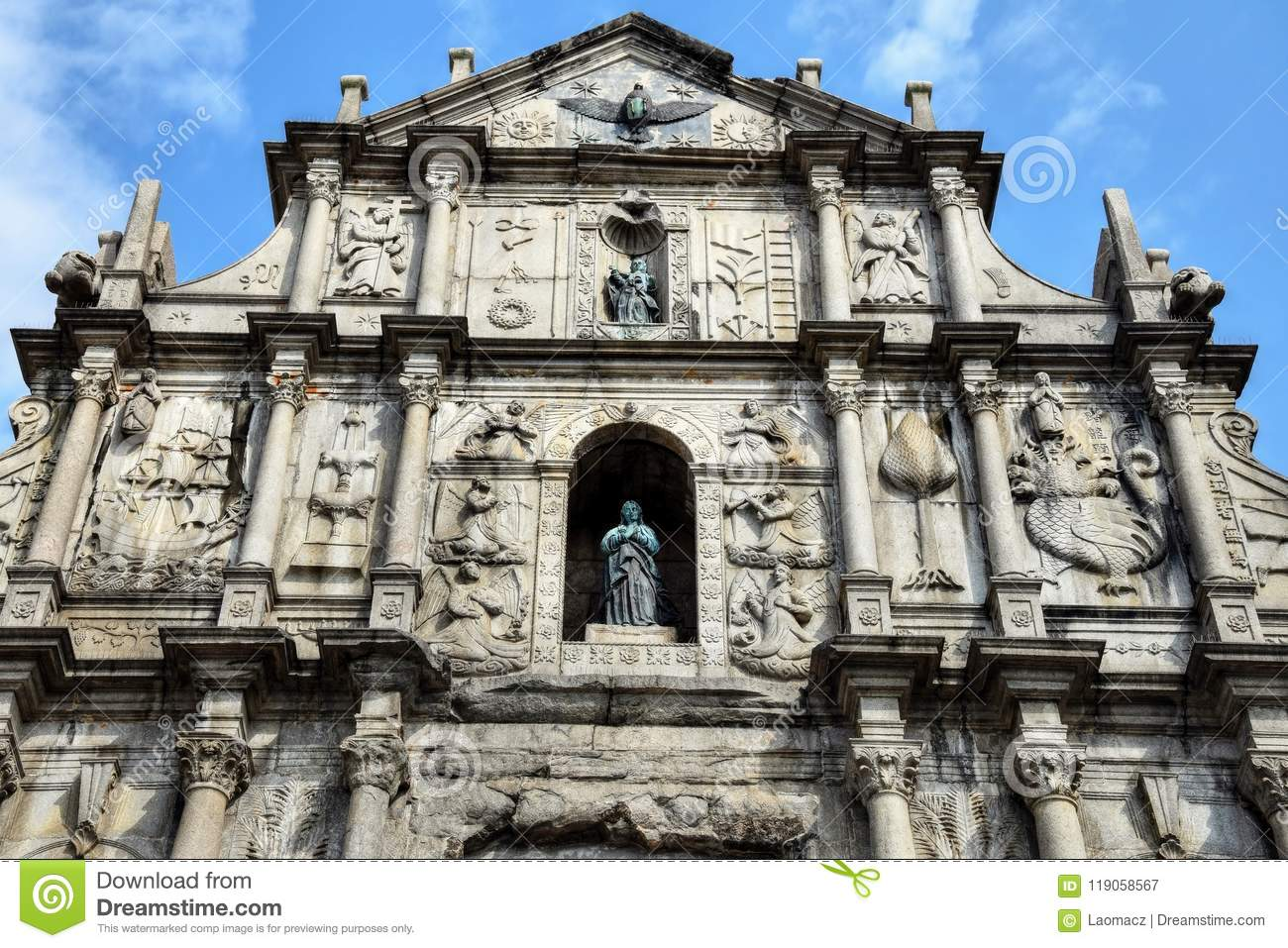 Ruins of St. Paul´s Church in Macao.