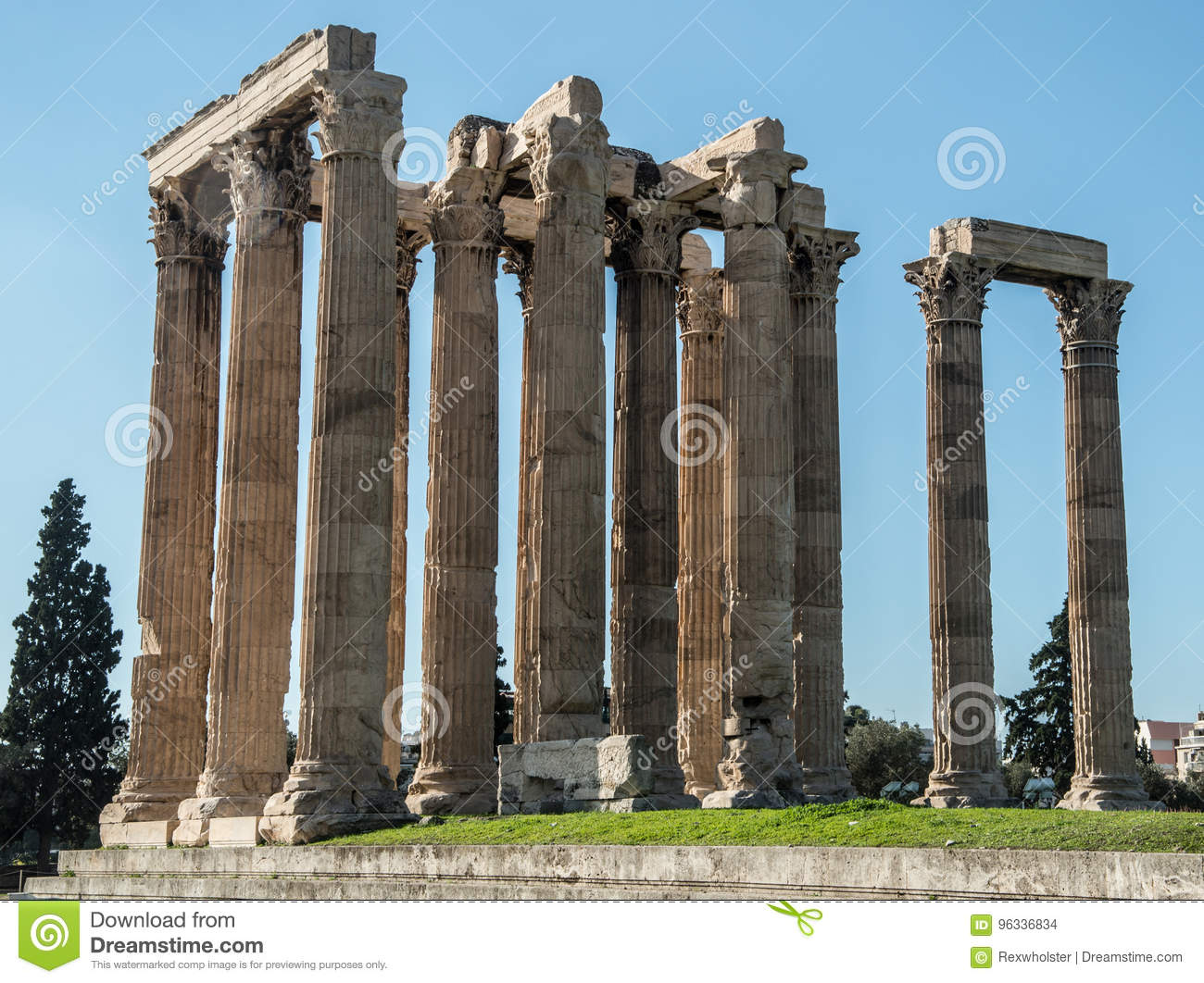 Ruins at the Temple of Olympian Zeus
