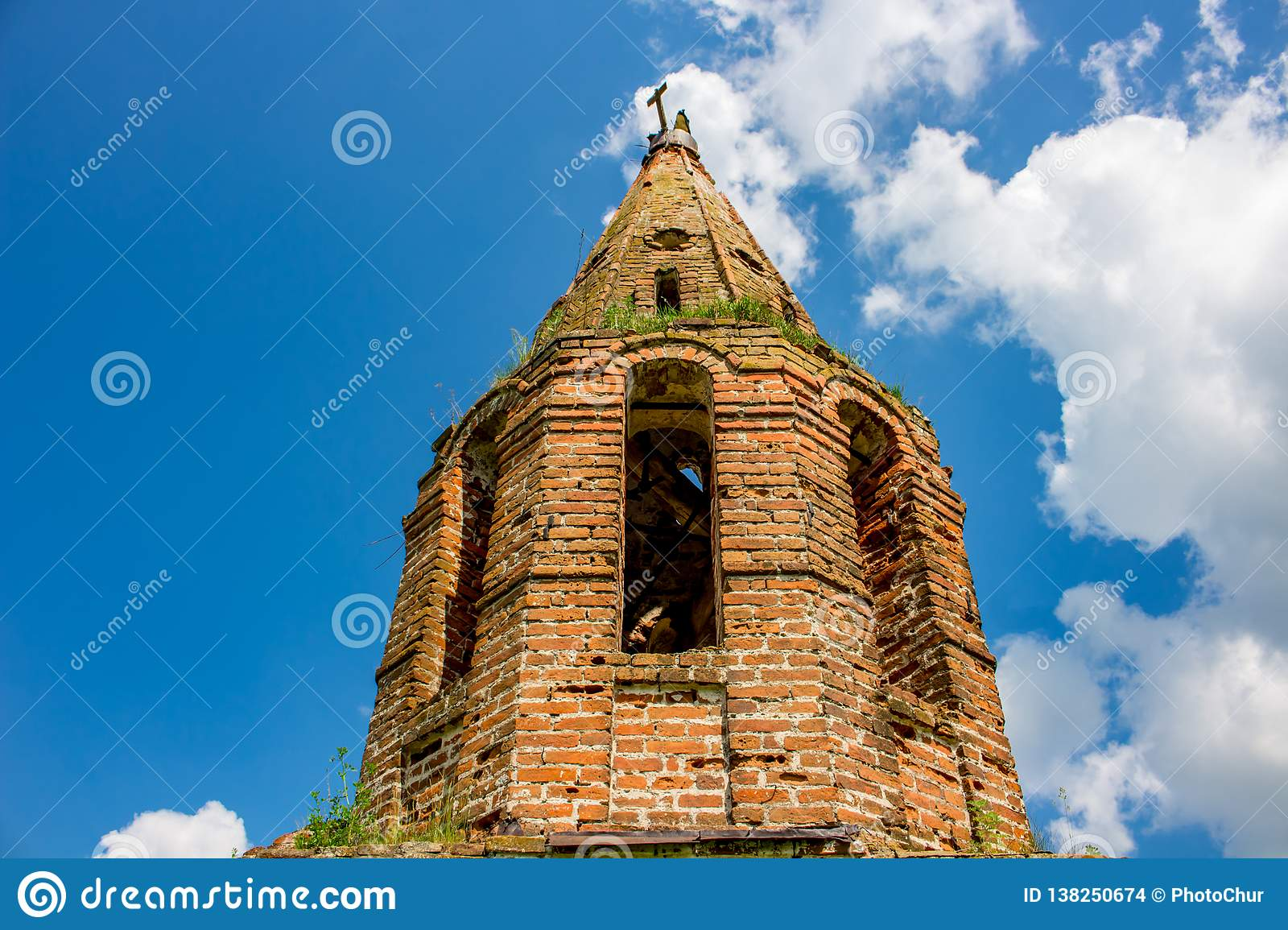 Ruins of the tent church of St. John the Evangelist of the 18th century, Russia