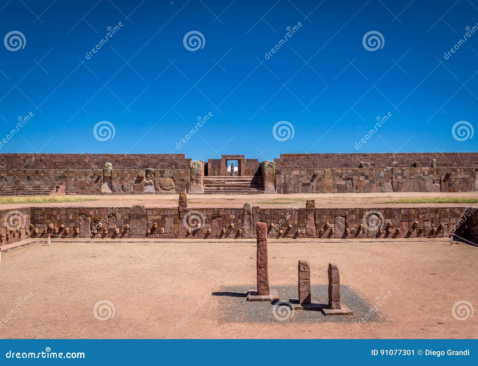 Ruins of Tiwanaku Tiahuanaco, Pre-Columbian archaeological site - La Paz, Bolivia